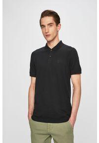 Czarna koszulka polo Selected krótka, casualowa
