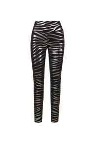 Adidas by Stella McCartney - Leginsy ADIDAS BY STELLA McCARTNEY TIGHT MET. Stan: podwyższony. Materiał: dzianina, materiał, poliester. Wzór: motyw zwierzęcy, nadruk