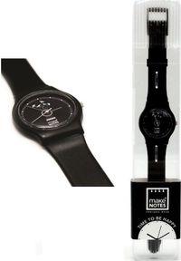 Czarny zegarek Make Notes