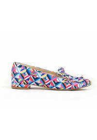 Baleriny Zapato wąskie, w kolorowe wzory