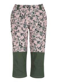 Cellbes Spodnie rekreacyjne długości 3/4 różowy we wzory female różowy/ze wzorem 60. Okazja: na spacer, do pracy. Kolor: różowy. Materiał: tkanina, dzianina, guma. Wzór: aplikacja. Styl: wakacyjny