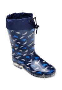 Niebieskie kalosze LANO w kolorowe wzory, z cholewką #5