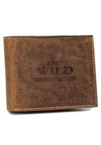 ALWAYS WILD - Portfel męski j. brązowy Always Wild RMH-03-7635 L.BROWN. Kolor: brązowy. Materiał: skóra