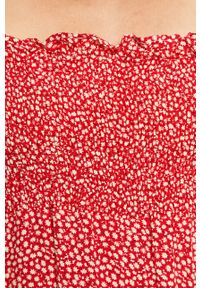 Czerwona sukienka ANSWEAR midi, na ramiączkach