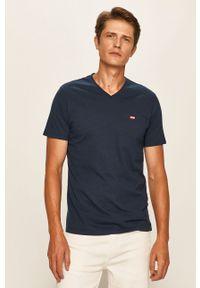 Niebieski t-shirt Levi's® na co dzień, casualowy