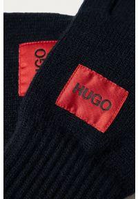 Hugo - Rękawiczki. Kolor: niebieski