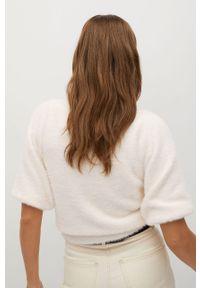 Biały sweter mango na co dzień, casualowy