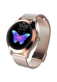 Złoty zegarek GARETT smartwatch, biznesowy