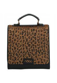 Nobo - Plecak damski panterka czarny NOBO NBAG-H1490-CM20. Kolor: czarny. Materiał: skóra ekologiczna. Wzór: motyw zwierzęcy