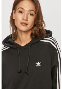 adidas Originals - Bluza bawełniana. Typ kołnierza: kaptur. Kolor: czarny. Materiał: bawełna