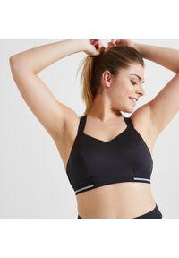 DOMYOS - Stanik fitness cardio Domyos 500. Materiał: mesh, skóra, materiał. Sport: fitness