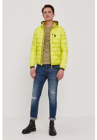 Żółta kurtka Blauer z kapturem, casualowa
