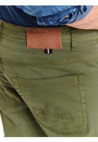Brązowe spodnie TOP SECRET na wiosnę, klasyczne, do pracy