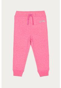 Różowe spodnie dresowe GAP na co dzień, casualowe