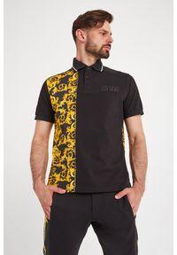 Koszulka polo Versace Jeans Couture sportowa, z nadrukiem, polo