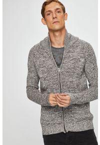 Szary sweter rozpinany medicine na co dzień, casualowy
