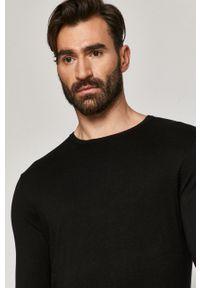Czarny sweter medicine casualowy, z długim rękawem