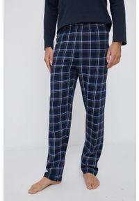 Tom Tailor - Komplet piżamowy. Kolor: niebieski. Materiał: materiał. Długość: długie. Wzór: nadruk
