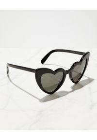 SAINT LAURENT - Czarne okulary w kształcie serca Loulou. Kolor: czarny