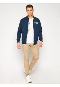 La Martina Bluza RMF006 FP522 Granatowy Regular Fit. Kolor: niebieski