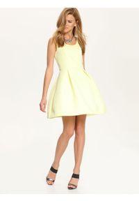 Żółta sukienka TOP SECRET wizytowa, na ślub cywilny
