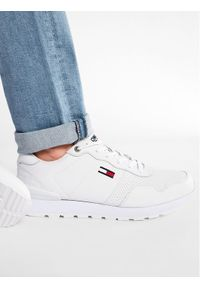 Tommy Jeans Sneakersy Lifestyle Lea Runner EM0EM00665 Biały. Kolor: biały
