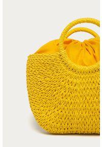Żółta torba plażowa ANSWEAR duża