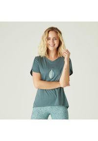 Koszulka do fitnessu NYAMBA krótka, z nadrukiem, z krótkim rękawem