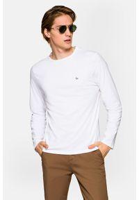 Lancerto - Koszulka z Długim Rękawem Biała Runcorn. Okazja: na co dzień. Kolor: biały. Materiał: włókno, materiał, bawełna. Długość rękawa: długi rękaw. Długość: długie. Wzór: gładki. Styl: klasyczny, casual
