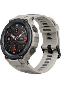 AMAZFIT - Amazfit smartwatch T-Rex Pro, Desert Grey. Rodzaj zegarka: smartwatch. Kolor: szary. Styl: sportowy, militarny