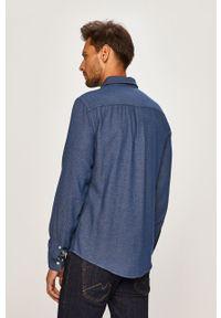 Niebieska koszula Blend z klasycznym kołnierzykiem, elegancka, długa