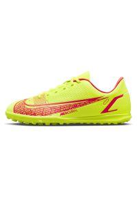 Buty dla dzieci piłkarskie turfy Nike Mercurial Vapor 14 Club TF CV0945. Materiał: guma, skóra, materiał, syntetyk. Szerokość cholewki: normalna. Sport: piłka nożna