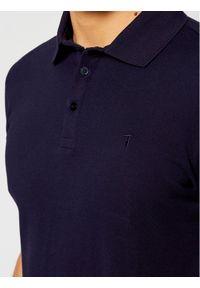 Trussardi Jeans - Trussardi Polo Piquet 52T00492 Granatowy Regular Fit. Typ kołnierza: polo. Kolor: niebieski