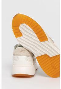 Kremowe sneakersy Camel Active na sznurówki, z cholewką