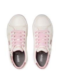 Geox - Sneakersy GEOX - J Gisli G. B J024NB 0AW54 C0406 S White/Pink. Okazja: na co dzień. Kolor: biały. Materiał: materiał. Styl: casual