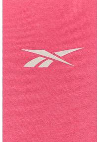 Różowa bluza nierozpinana Reebok casualowa, na co dzień, z kapturem