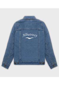 MegaKoszulki - Kurtka jeansowa damska Albatrosy. Materiał: jeans. Wzór: nadruk. Sezon: wiosna. Styl: klasyczny