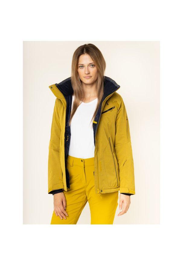 Żółta kurtka narciarska salomon