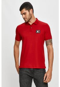 Czerwona koszulka polo TOMMY HILFIGER polo, krótka