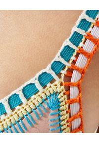 KIINI - Top od bikini Luna. Kolor: beżowy. Materiał: materiał, nylon, poliester