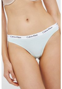 Calvin Klein Underwear - Stringi (3-PACK). Kolor: niebieski