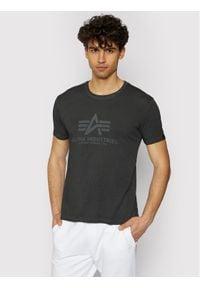 Alpha Industries T-Shirt Basic T Oildye 116515 Czarny Regular Fit. Kolor: czarny