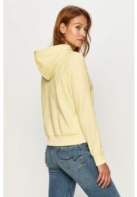 Żółta bluza Vans z nadrukiem, długa, z kapturem, casualowa #5
