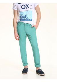 Zielone spodnie TOP SECRET na lato, casualowe, do pracy, długie