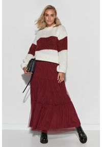 Czerwona spódnica Makadamia
