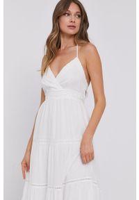 Biała sukienka TwinSet casualowa, bez ramiączek