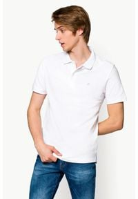 Biała koszulka polo Lancerto polo, klasyczna