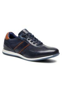 Bugatti - Sneakersy BUGATTI - 315-93902-4069 Dark Blue/Dark Blue. Okazja: na co dzień. Kolor: niebieski. Materiał: skóra, materiał. Szerokość cholewki: normalna. Styl: klasyczny, sportowy, elegancki, casual