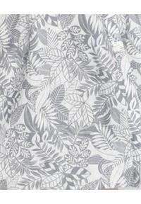 HEMISPHERE - Niebieska sukienka z lnu. Kolor: niebieski. Materiał: len. Wzór: kwiaty. Długość: midi