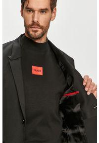 Czarny garnitur Hugo gładki